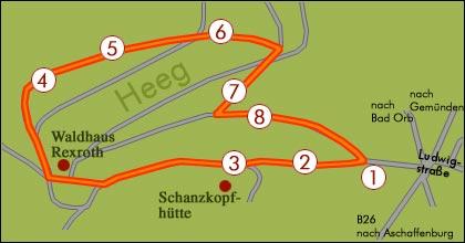 Waldlehrpfad in Lohr a. Main